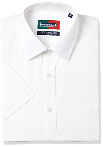 Peter England Men's Formal Shirt (8907206761518_RSW6259_40_White Solid)