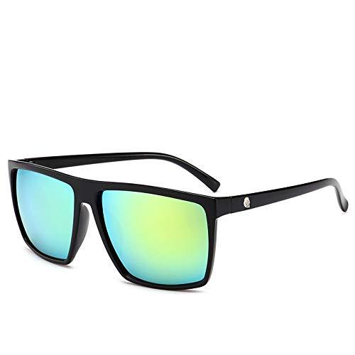 YUHANGH Quadratische Sonnenbrille Männer Spiegel Foto Chrom Übergroße Sonnenbrille Männliche Sonnenbrille Mann