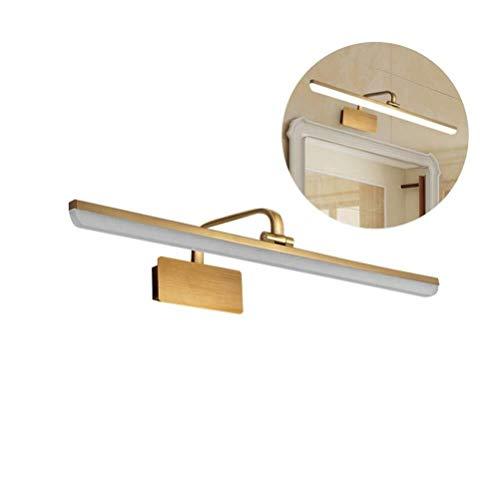 Badezimmer Regal Gold-LED-Badezimmer-Eitelkeit-Lampen-Licht, moderne einfache Eisen über Spiegel-Lampen Wandleuchte, dekoratives Make-up-Licht, an der Wand befestigten Vanity-Beleuchtungskörper for Ma -