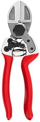 FALKET 2012 EVO - Forbici per potatura professionali a doppio taglio, cm 21