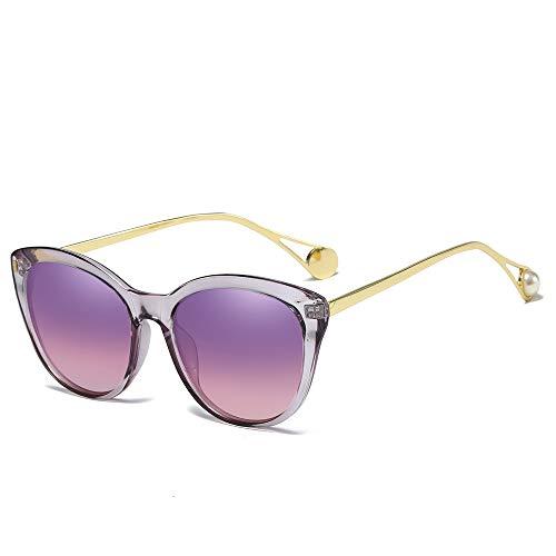 YIWU Brillen Perle mit Metall-Sonnenbrille verziert Brillen & Zubehör (Color : 4)