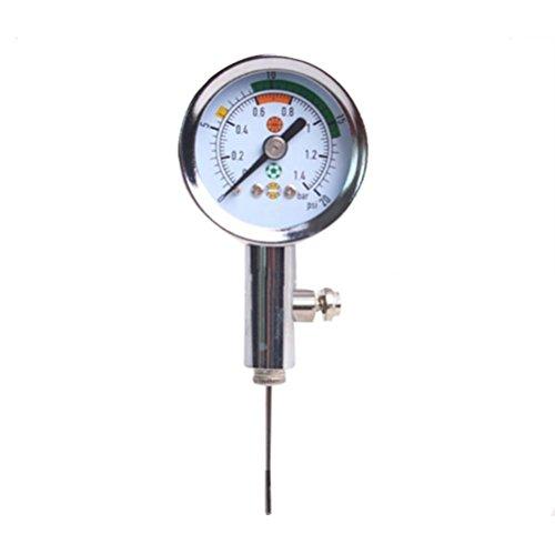 Katech Ball Manometer Profi Ball Druck Mess Werkzeug zu testen und passen Sie die Druck für Fußball, Fußball, Rugby, Basketball, Volleyball und andere Kugeln