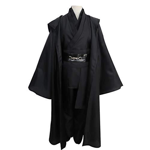 Samurai Kostüm Für Erwachsene - GRYY Cosplay Kostüm Samurai Kleidung Schwarzer Anzug Herren Uniform Erwachsene Weihnachtskostüm Halloween,Black-S