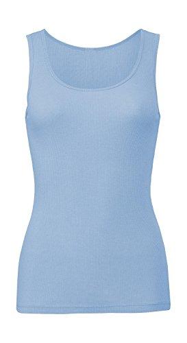 Trägershirt '2x1 Rib Tank Top', Farbe:Baby Blue;Größe:L L,Baby Blue