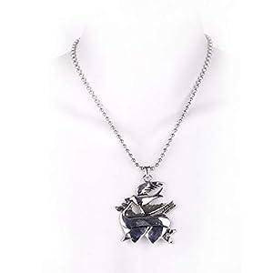 MB-Müller 81229-442-000 - Cadena de metal con colgante, diseño de golondrinas y corazón, unisex, color plateado