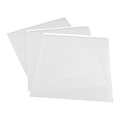 Healifty 6 STÜCKE A4 Transparent Ink Jet Klebefolie Wasserdichte Inkjet Transparenz Silk Screen Film