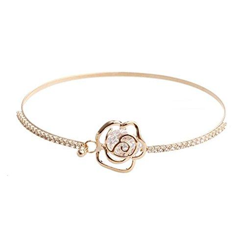 Blue Vessel Rose Damen Armband Kamelie Blumen Armband Muttertag Geschenk Women Bracelet