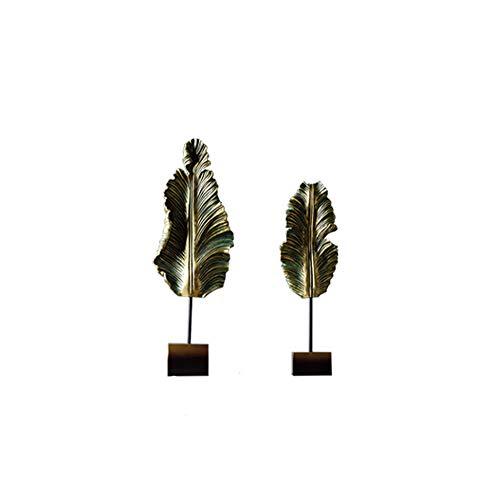 Escultura Estatuilla Estatua Ornamento Artesanía, hojas de plátano resina Regalos Escultura Ornamento...