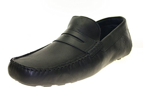 Mokassins Herrenschuhe Echt Leder Farbe Schwarz Noir