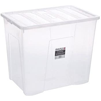 Extra Large Clear Plastic Storage Box With Lid 133 Litre Amazon Co