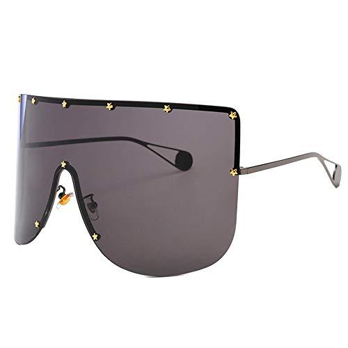 ANSKT Big Box Star Sonnenbrille Anti-Peeping-Hut Brille integrierte Maske Unisex @ 1