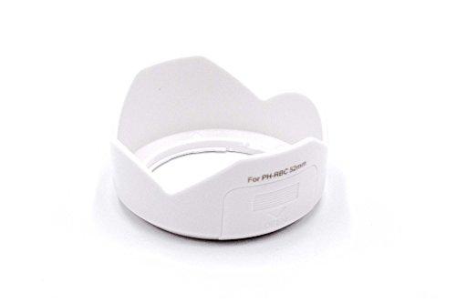 vhbw Gegenlichtblende Sonnenblende Streulichtblende weiß 52mm für Kamera Pentax SMC DA 18-55mm F / 3,5-5,6 AL WR Objektiv wie PH-RBC-52mm. - Für Pentax Kamera-objektiv