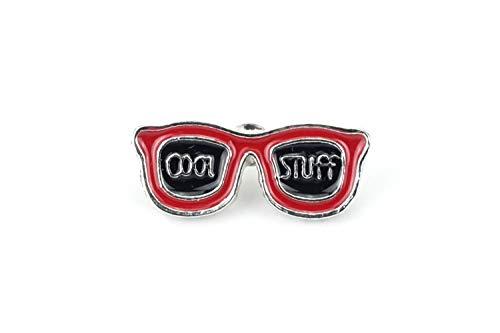 Naehgedoens.de Pin Sonnenbrille Cool Stuff | Rot Schwarz | Brosche | Anstecknadel | Anstecker