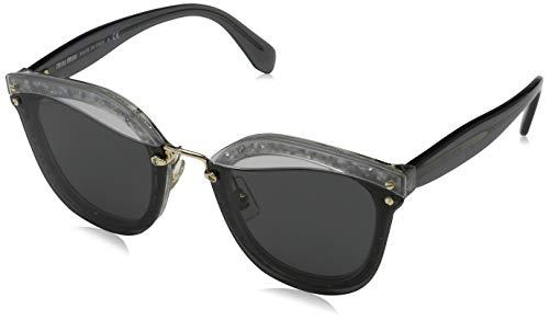 Miu Miu Damen 0MU03TS UES5S0 65 Sonnenbrille, Grau (Transparent Grey)
