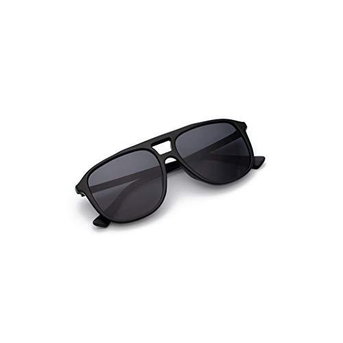 Mode Damen Herren Rechteckig Sonnenbrille Polarisiert UV-Schutz Spiegel Retro Vintage Brille Verspiegelt Gläser PPangUDing Classic Original Ultraleicht Outdoor Sport (Eine Größe, Schwarz)