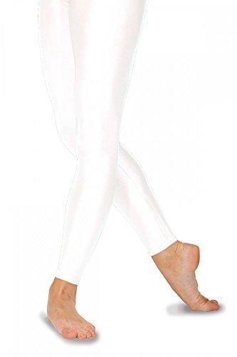 Roch Valley FLST Ballett Strumpfhosen ohne Fußteil aus Lycra Weiß 1 (110-116cm)