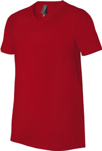 Wei§e Skelett HŠnde auf American Apparel Fine Jersey Shirt Rot