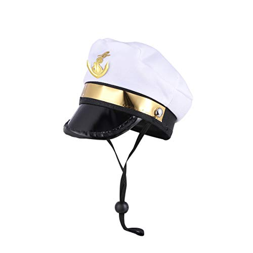 Amosfun Pet Sailor Hat Navy Hund Katze Kostüm Anzug für Party Supplies (Sailor) (Sailor Kostüm Hat)