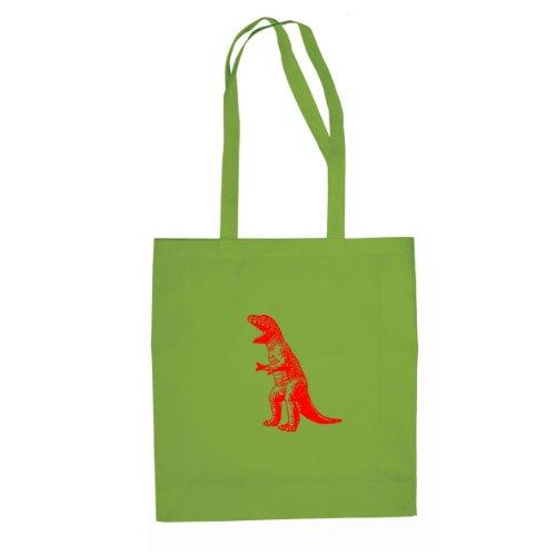 TBBT T-Rex Dinosaur - Stofftasche / Beutel Hellgrün