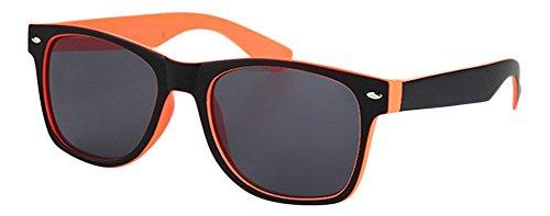 Palleon Wayfarer Sonnenbrille für Damen und Herren Nerdbrille orange