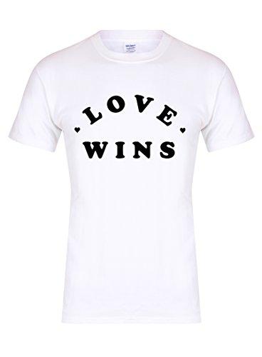 e540290d7a8f4 Love Wins - Unisex Fit T-Shirt - Fun Slogan tee (Youth 7-