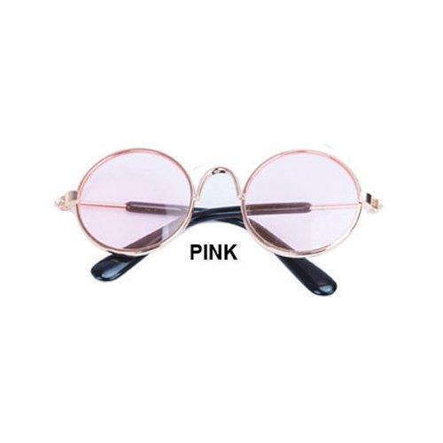 Aprigy - Cat Eye-Wear Pet Sonnenbrille Little Dog Glas-Katze Brille Fotos Props Hund Katze Zubeh?r Tierbedarf f¨¹r Haustier-Produkte [Rosa ]