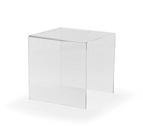 Hansen 3er Dekobrücken Set 1 (klein): enthält 3 Dekopodeste / Warenprodeste in den Größen 100x100 mm, 150x150 mm und 200x200mm aus Acryl / Acrylglas (Plexiglas) (Office-set Podest)