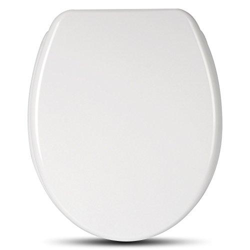 WOLTU WS2728-a Premium WC Sitz aus Duroplast, mit Absenkautomatik, Softclose Schaniere, Antibakteriell, modern Design, Weiss (Premium Wc-sitz)