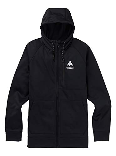 Burton Herren Crown Bonded Zip-Pullover, True Black, M Bonded Zip Hoodie