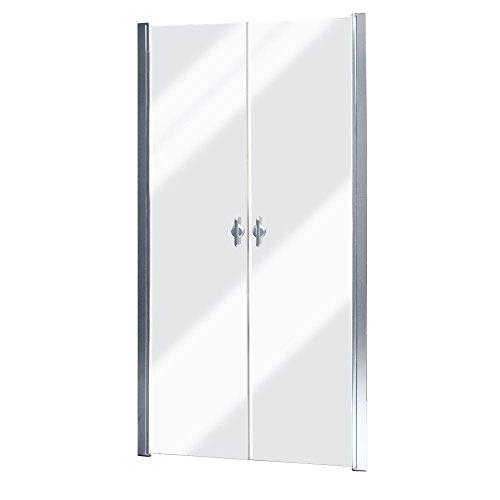 vidaXL Recinto de ducha, Puerta de vidrio 80 cm, Templo de ducha, Tabique de ducha