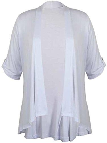 Chocolate Pickle ® Nouveau Femmes Plus Size Kimono Waterfall Cardigan Jumbo white