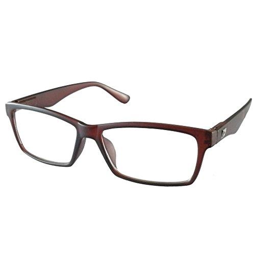 Schwarze Randlose Brillen (Lesebrille Schwarz oder Braun für Herren oder Damen mit Federscharnier +1,0 +1,5 +2,0 +2,5 +3,0 +3,5 (braun, +2.0))