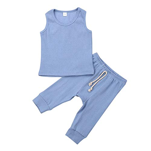 Julhold Neugeborenen Baby Mädchen Bbys Casual Oansatz Weste Top Hosen Leggings Outfit Set Sommer Kleidung Party 2019 Neu