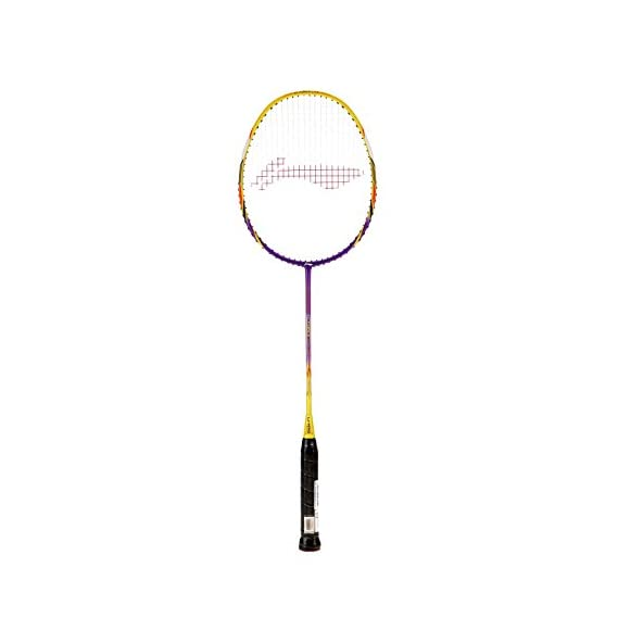 Li-Ning G-Force Lite 3300i Badminton Racquet (Strung), S2 Grip Size, (Purple/Yellow)