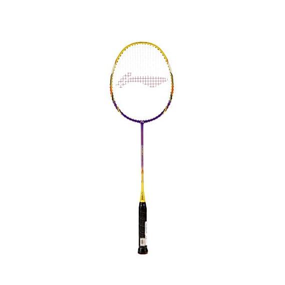 Li-Ning G-Force Lite 3300i Badminton Racquet (Strung), S2 Grip Size, (Purple/Yellow)