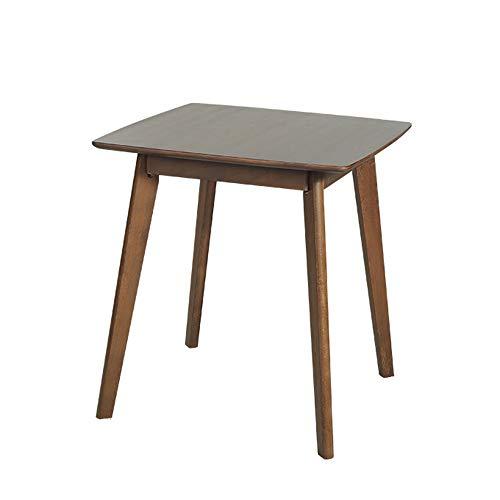 Laptopständer DD Beistelltisch, Esstisch Aus Massivholz, Nordic Square Table, Konferenztisch Verhandeln, Square Snack Table -Werkbank (Farbe : Walnut...