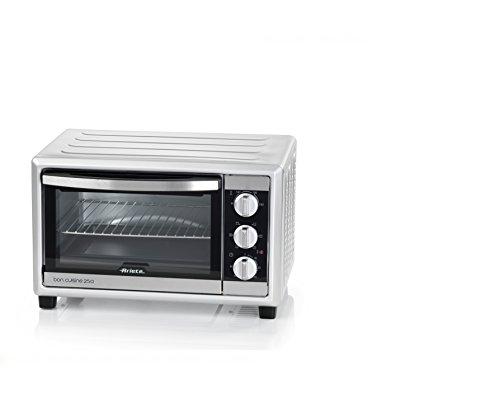 Ariete 984 bon cuisine 250 - forno elettrico ventilato, 25 litri, 1500w, 6 posizioni cottura, timer 60', silver
