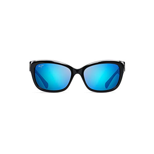 Maui Jim B768-02K 02K Schwarz / Kristall Plumeria Cats Eyes Sunglasses Polarised Lens Category 3 Lens Mirrored Size 55mm