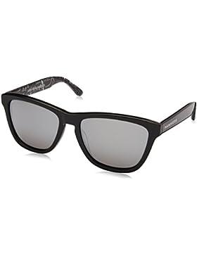 Hawkers Basquiat x Silver Chrome, Gafas de Sol Unisex, Negro/Gris, 65