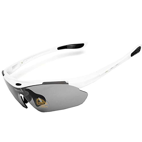 MaxAst Sonnenbrille Herren Motorradbrille Beschlagfrei Sicherheitsbrille Damen Weiß Grau