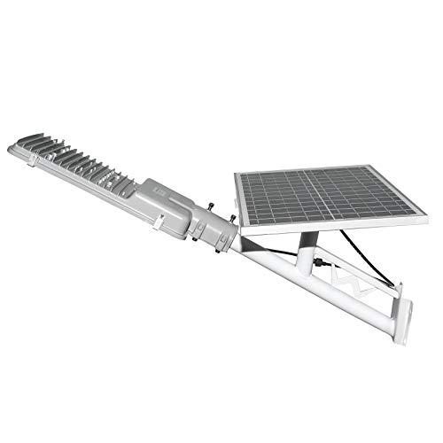 Lampione per Esterno con Pannello Fotovoltaico Inclinabile e Telecomando Led 50W