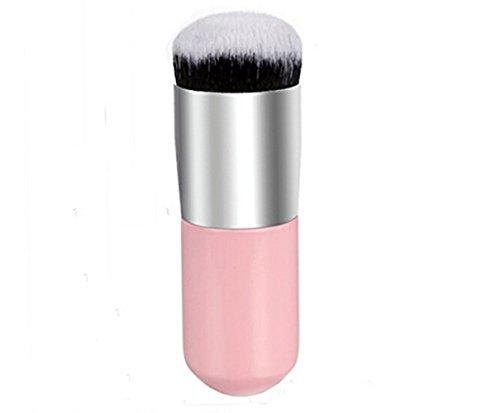 Vi.yo 1 Pièce Brosse Belle Cosmétique Brosse Maquillage pour Visage Brosse Professionnelle à Blush (Silver and Rose)
