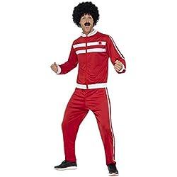 Smiffys Survêtements mecs de Liverpool, Rouge et blanc, avec veste et pantalon