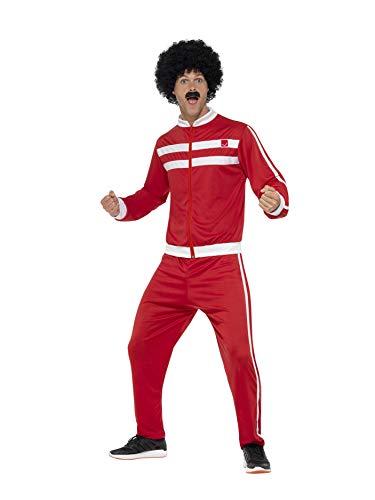 Smiffys 45521L - Herren Scouser Trainingsanzug, Jacke und Hose, Größe: L, (80's Party Herren Kostüm Ideen)