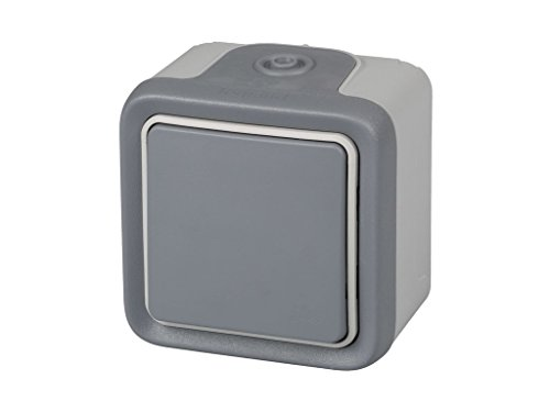 legrand 191501 Interruptor Conmutador Estanco de Superficie, Gris