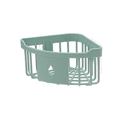 Mikowanxin mensola della cucina cremagliere angolari in plastica scaffale da cucina scaffale lavandino portasalviette angolare da bagno portaoggetti da bagno portabottiglie verde