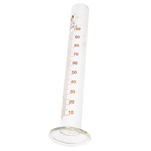 Sharplace 100ml/250ml/500ml Eprouvette Graduée Professionnel Mesureur Cylindre en Verre pour Expérimentent Chimique ou Utilisation Usine - 240ml