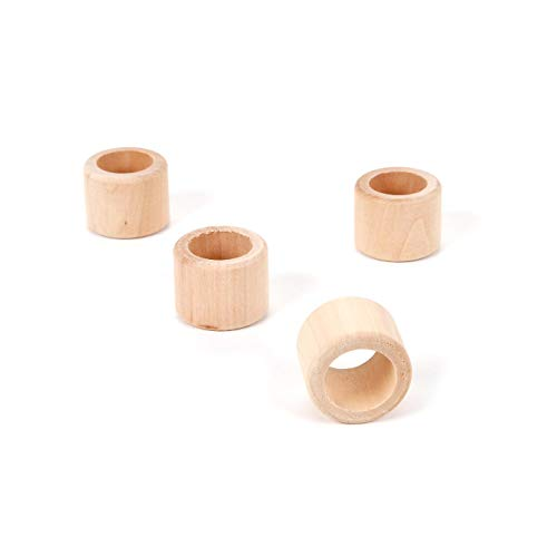 Handwerk Holz Serviette Ring 1-1/10,2cm 4Stück (6er Pack) 9112-68 ()