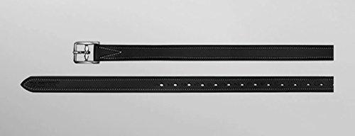 """Passier Steigbügelriemen \""""Velvet Touch Deluxe&ldquo, 2,5cm breit Länge 160cm, Farbe schwarz"""