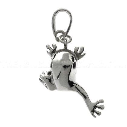 leap-frog-silver-pendant